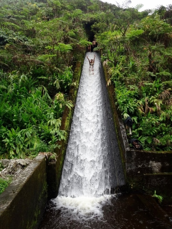 Amazing Canal Water Slide Bali, Indonesia
