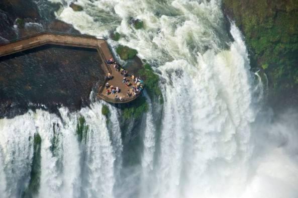 Breathtaking view of Iguazu Falls, Brazil