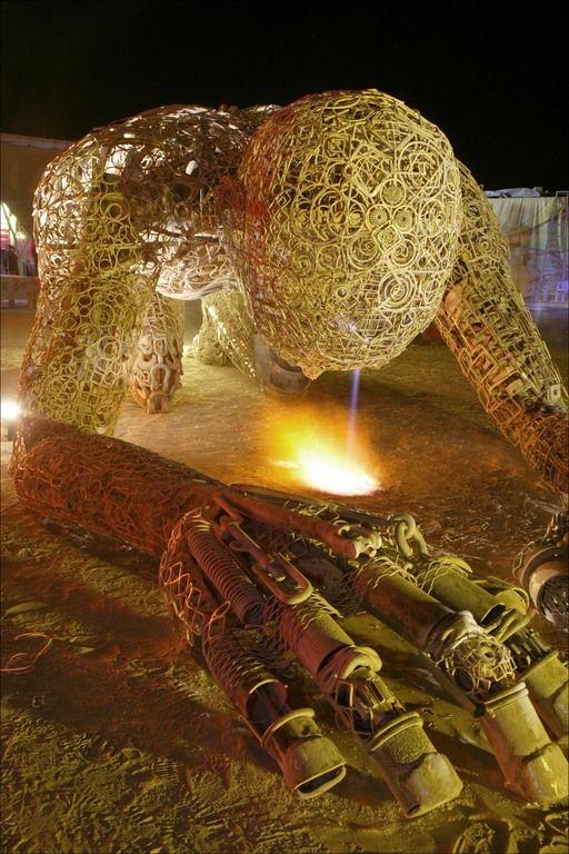 Massive Burning Man Sculpture