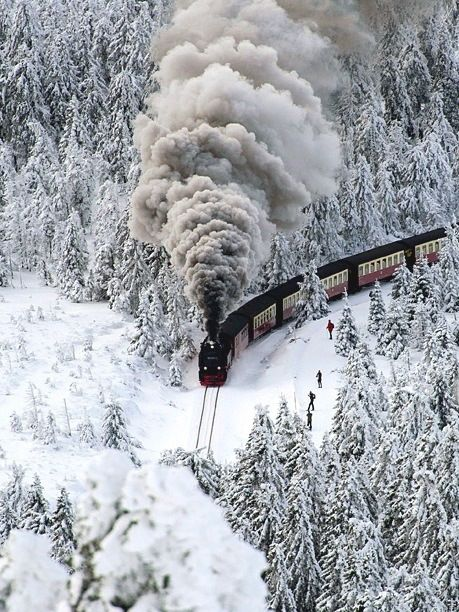 Snow train, Germany