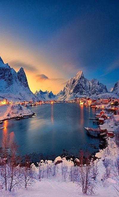 Stunning view of Reine, Norway