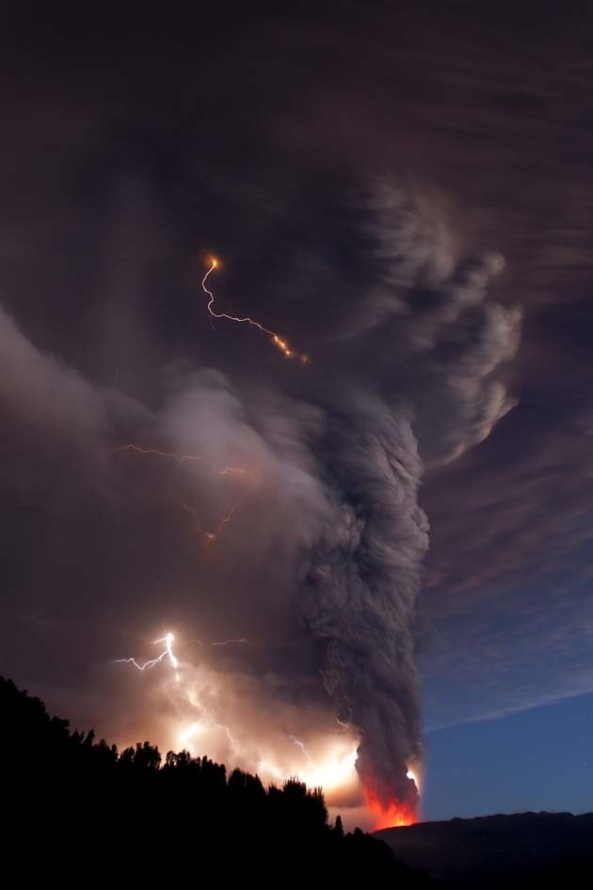 Tornado and Lightning in Chile