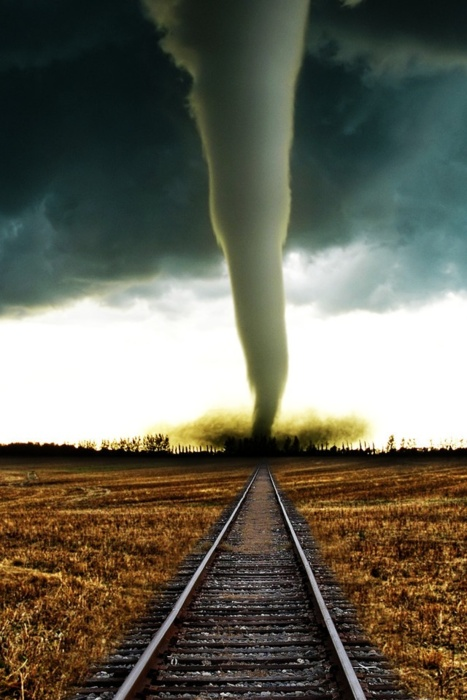 Tornado on the train track