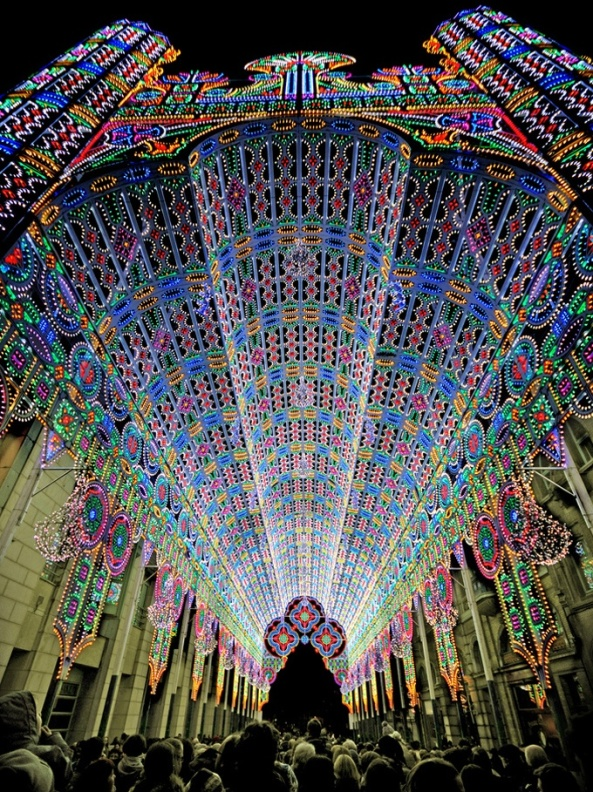 Light Festival 2012 in Ghent, Belgium