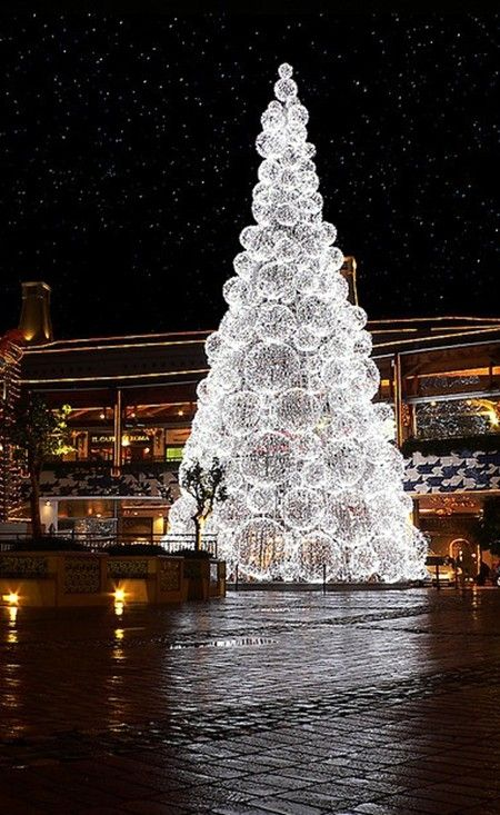 Artificial White Christmas Tree