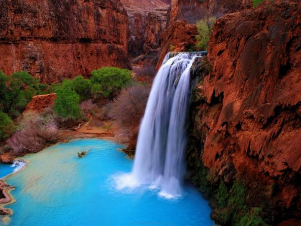 Beautiful view of Havasu Falls