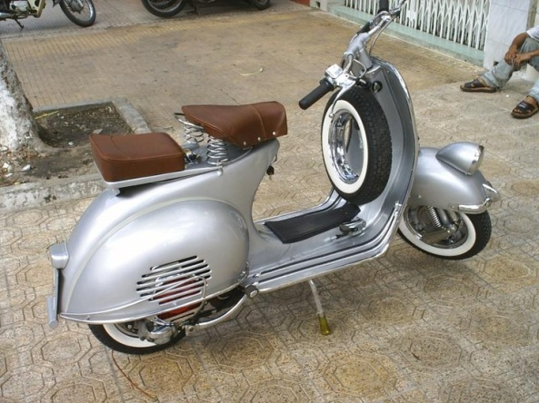 Beautiful Vintage Vespa Scooter