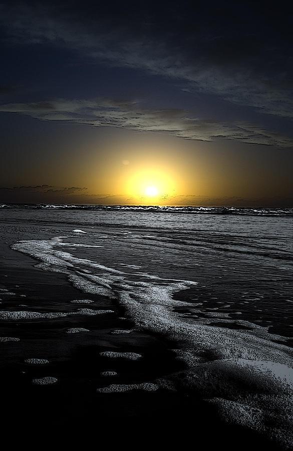 Black Beach Sunset