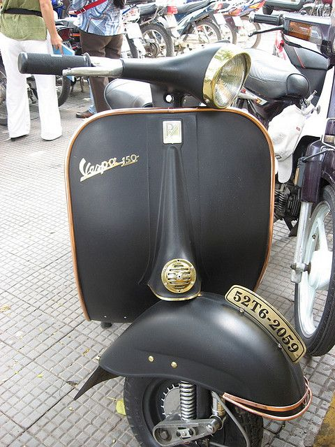 Black & Gold Vespa