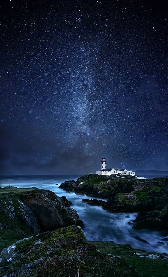 Fanad Lighthouse, County Donegal in Ireland.