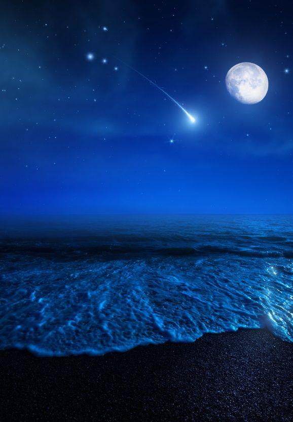 Galaxies Over Beach