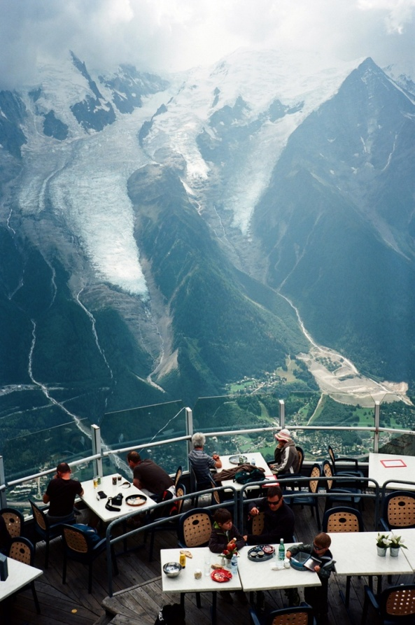 Mindblowing  view from Restaurant, Chamonix , France