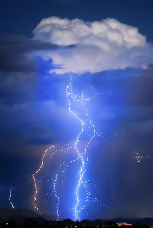 Monsoon storm activity in the Desert of Arizona