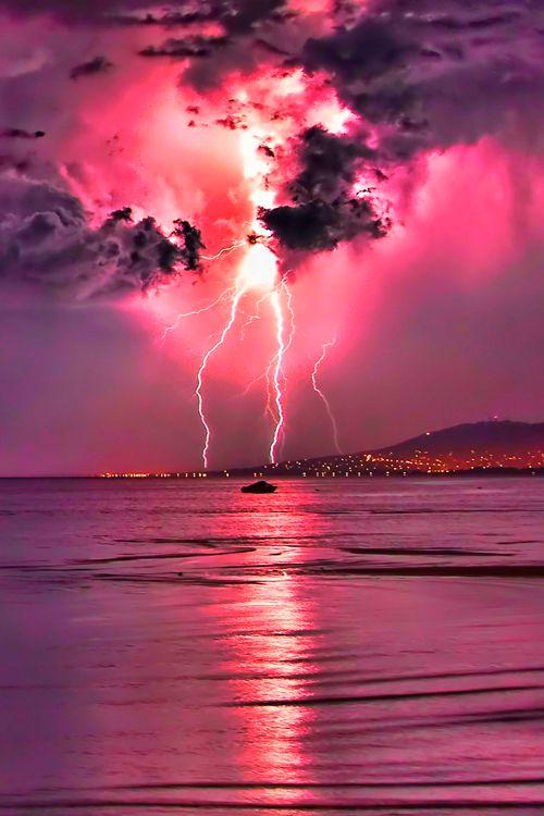 Pink skies meet Pink water