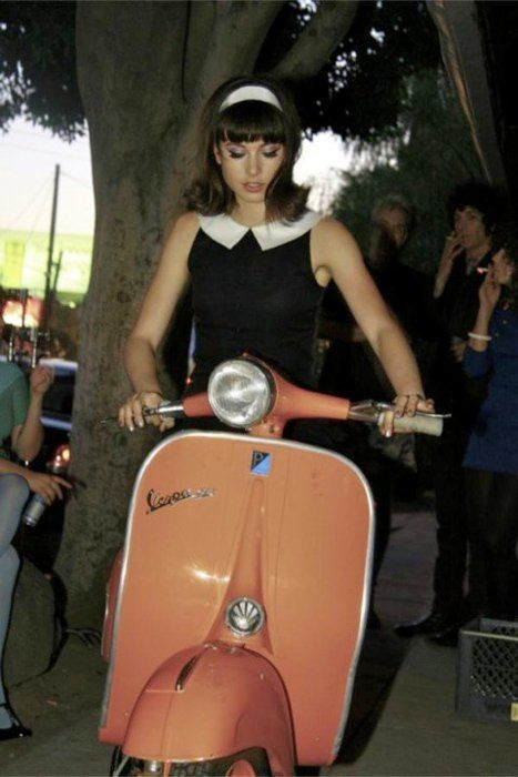 Retro scooter in the 60s