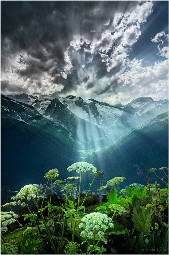 Sunrise Over the Mountains - Karachay-Cherkess Republic, Russia