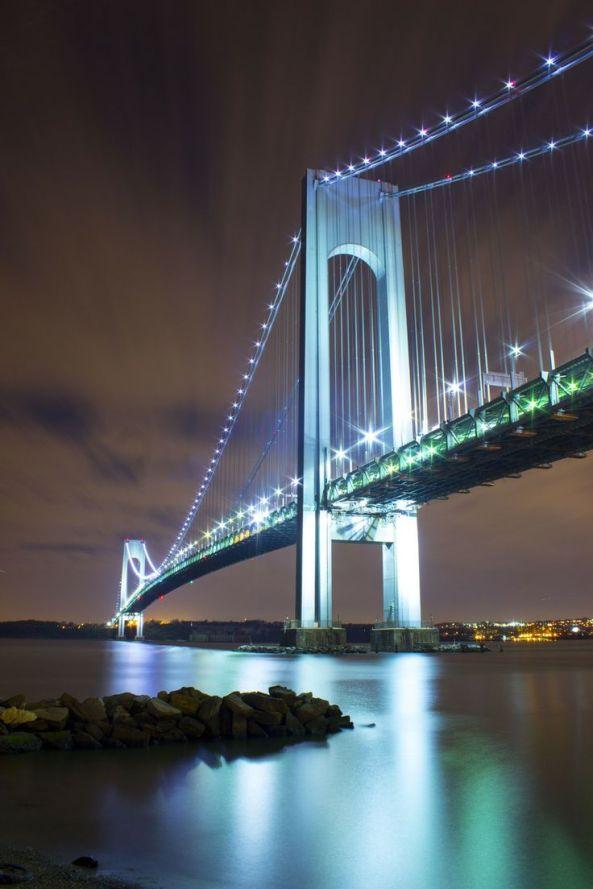 Verrazano Bridge at Night, NYC