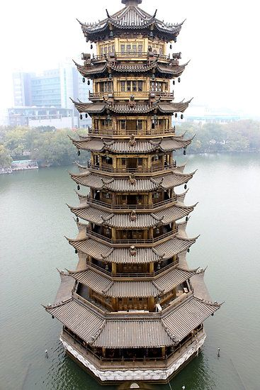 Sun Pagoda in Guilin, Guangxi, China